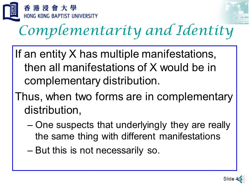 Complementarity and Identity
