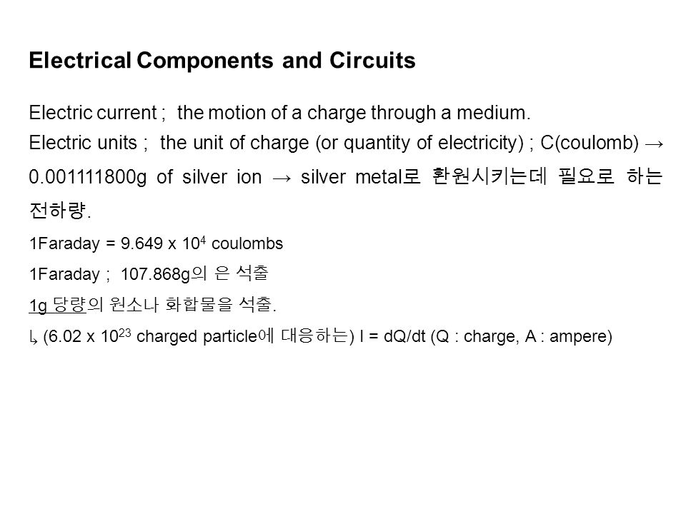 Electrical Components and Circuits - ppt video online download