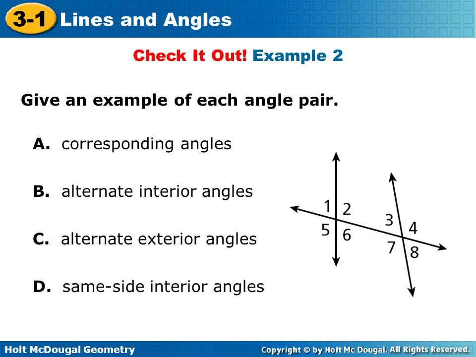 Objectives Identify Parallel Perpendicular And Skew Lines Ppt Download