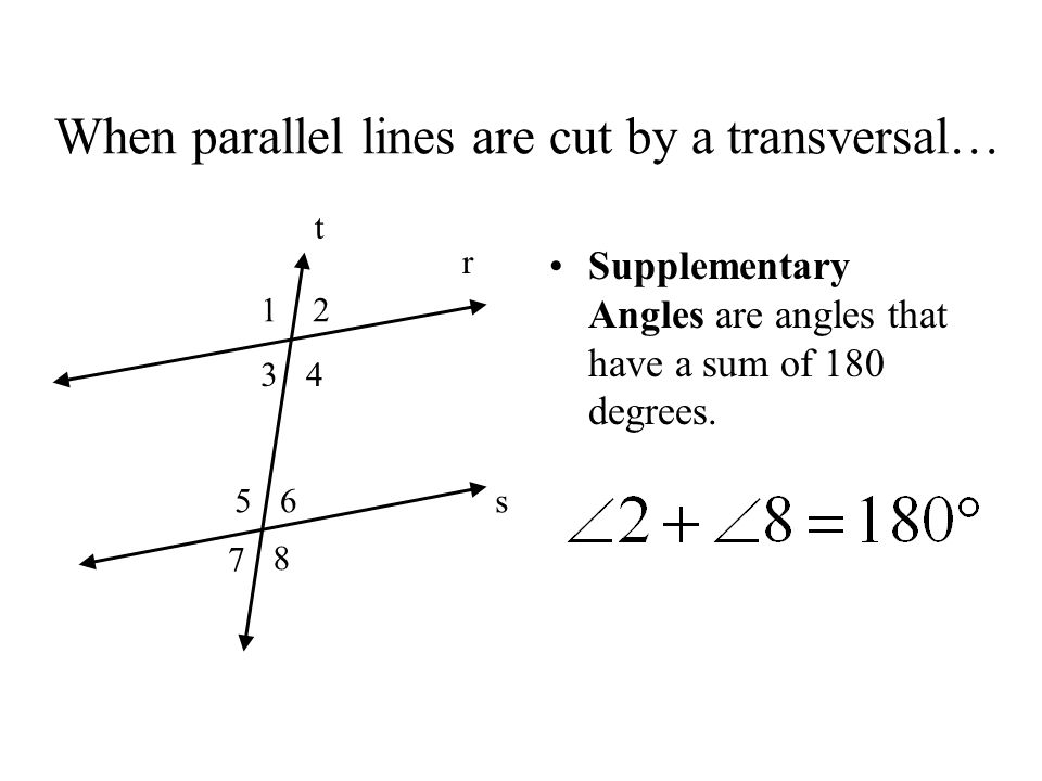 When Parallel Lines Are Cut By A Transversalu2026