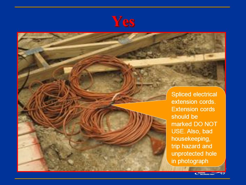Extension Cord Trip Hazard : Office of safety health consultation presents ppt