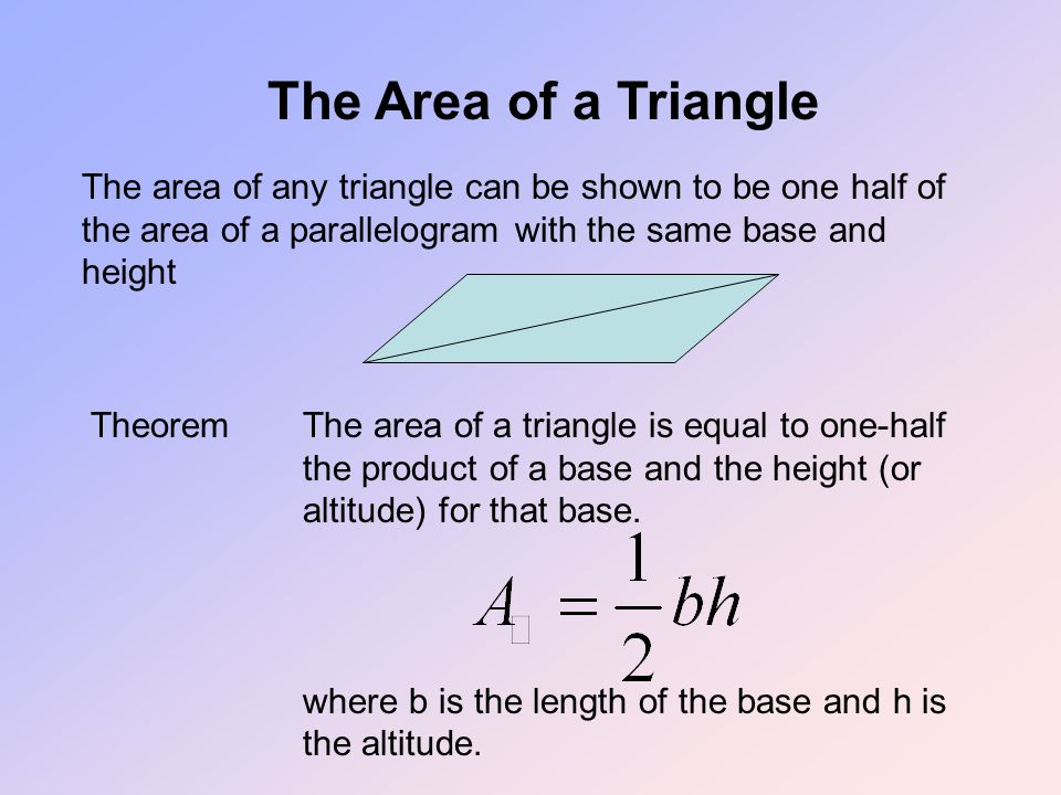 how to find area of triangle without height