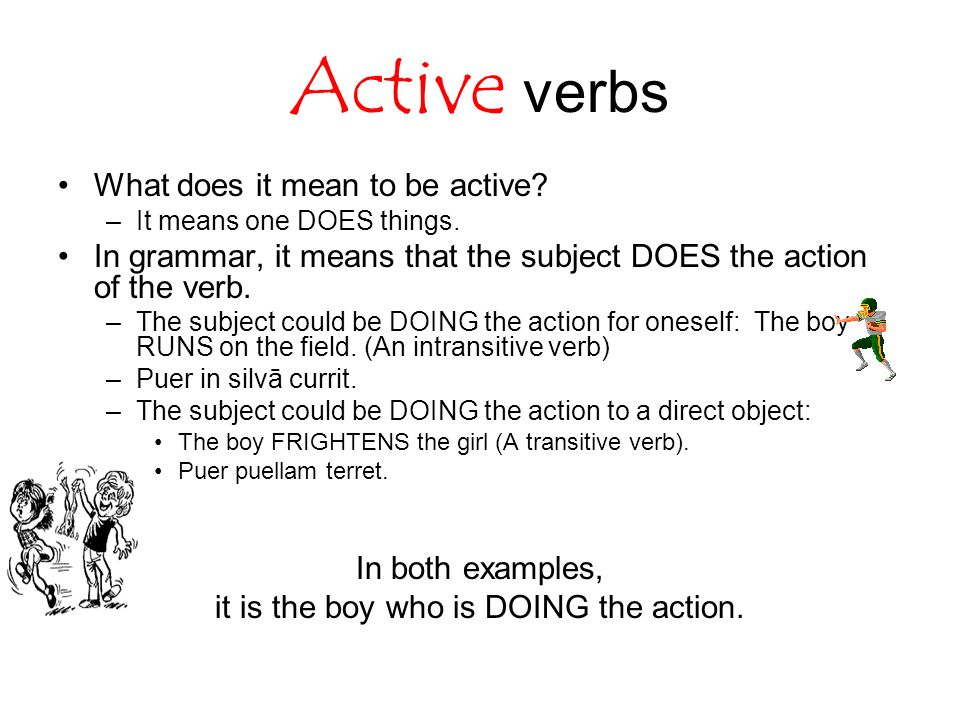 Great Active Vs Passive Voice Verbs. 2 It ... With Active Verbs