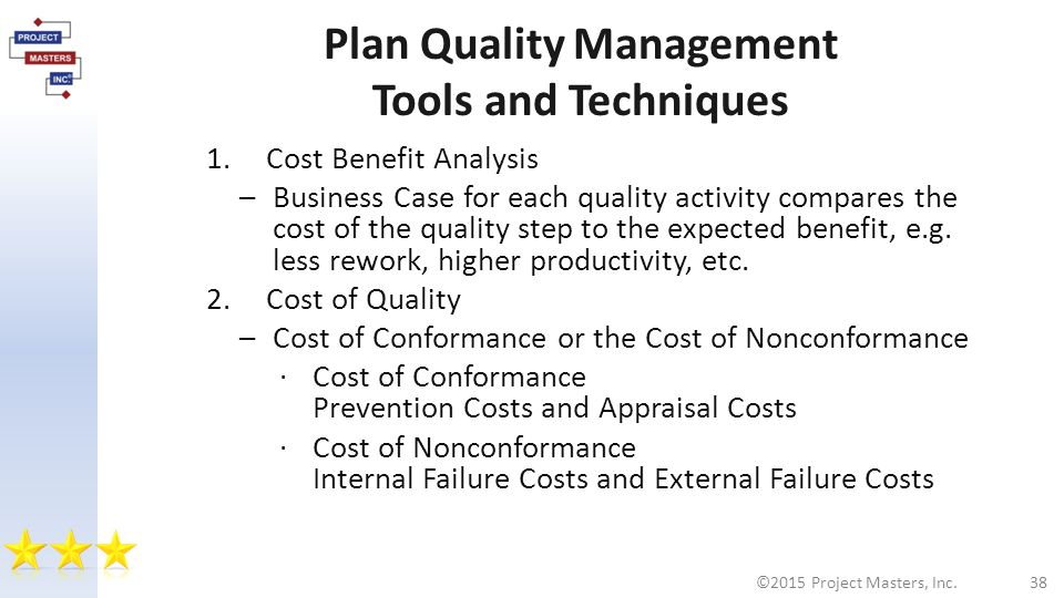 analysis techniques for quality costs relationship