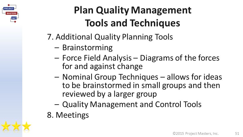tools and techniques for quality planning information technology essay Information technology in an organization's essay on information technology and management information and knowledge of tools, machines, techniques.