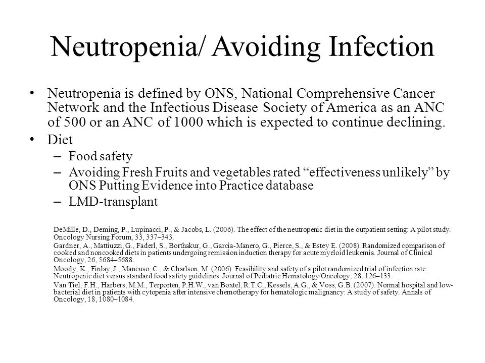 chemotherapy induced neutropenia treatment guidelines