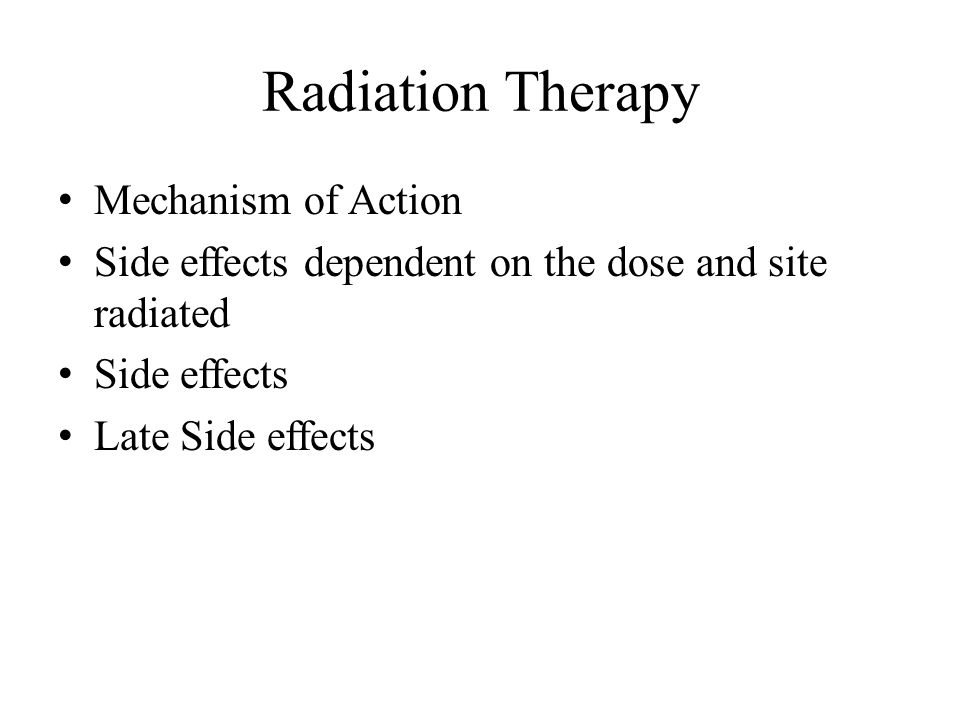side effects of cancer treatment pdf