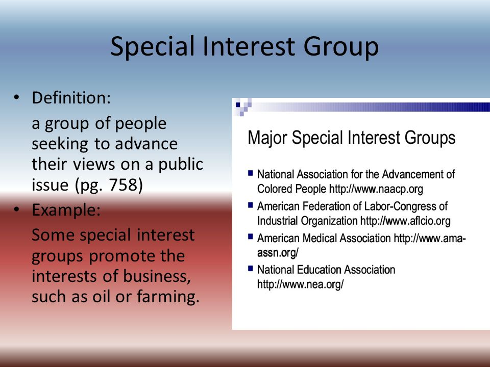 special interest Special interest groups istss is a large, multidisciplinary society members involve themselves in istss along two axis: the victim/survivor populations with which they work and the interest areas they have that span survivor groups in scope.