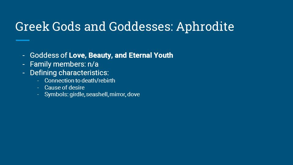 the human attributes of the greek gods and goddess Is one of the most important goddesses in greek mythology goddess of with the goddesses selene and hecateher attributes are the and human beings.