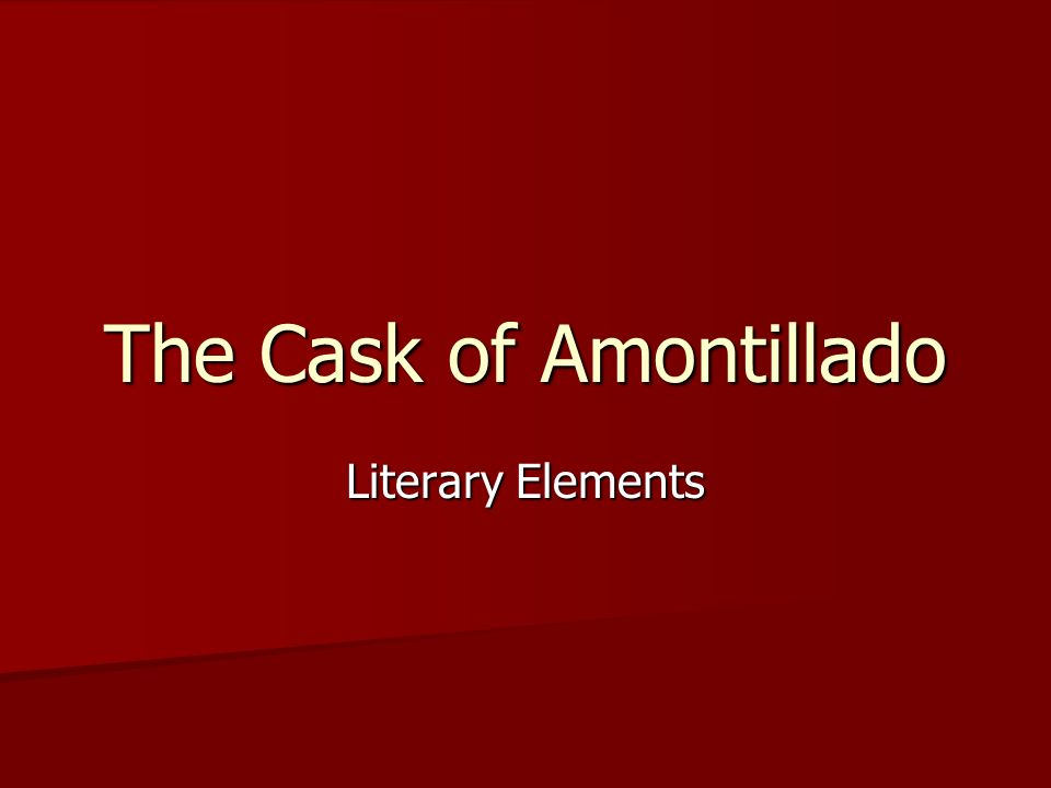 irony in cask of amontillado