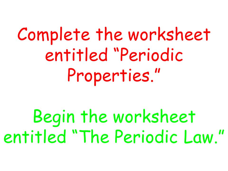 Ionization Energy Electron Affinity ppt video online download – Periodic Law Worksheet