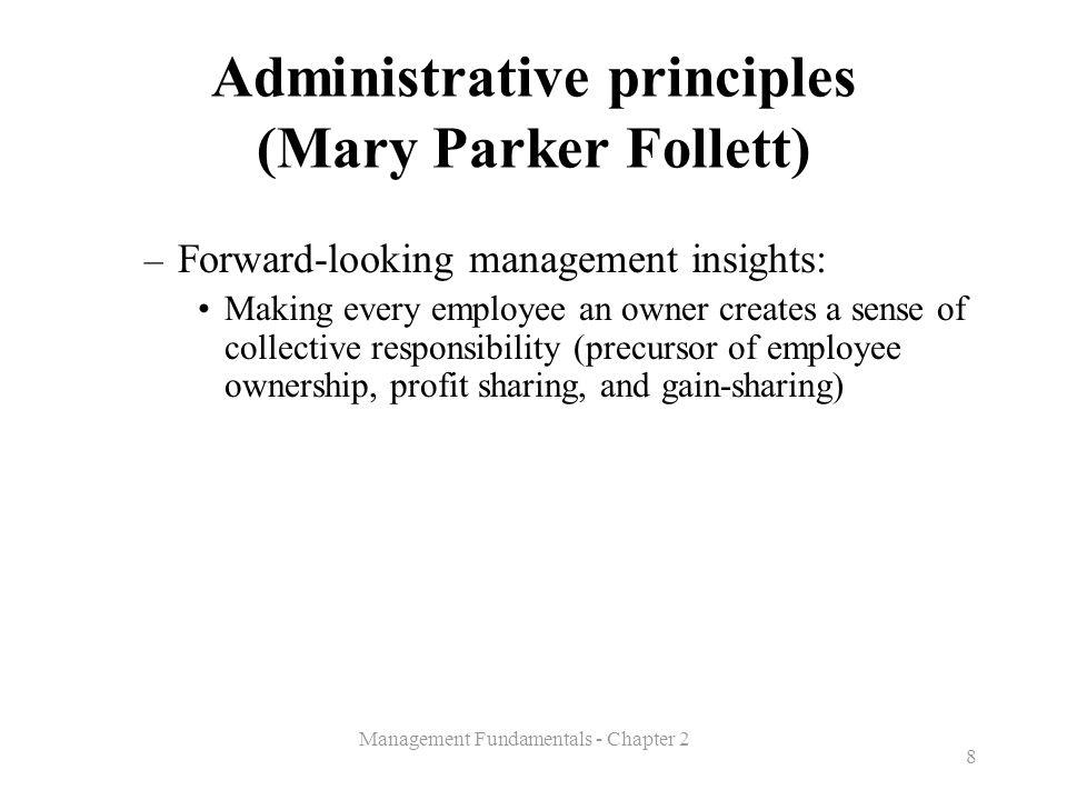 Administrative principles (Mary Parker Follett)