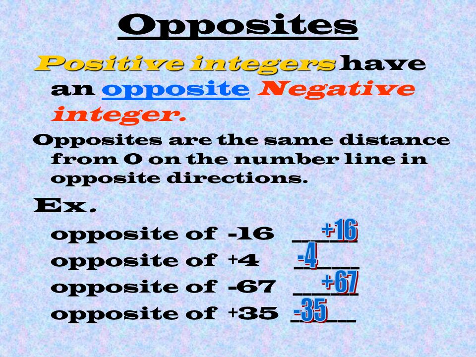 Integers ppt download for Opposite of floor