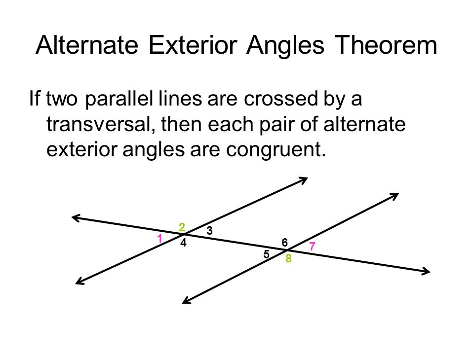 Angles and parallel lines ppt video online download for Alternate exterior angles conjecture