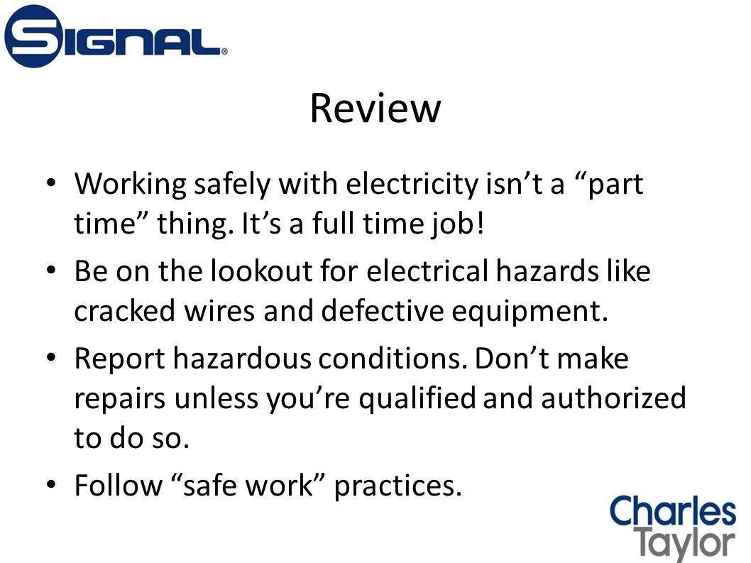 Electrical Safety in the Workplace - ppt download