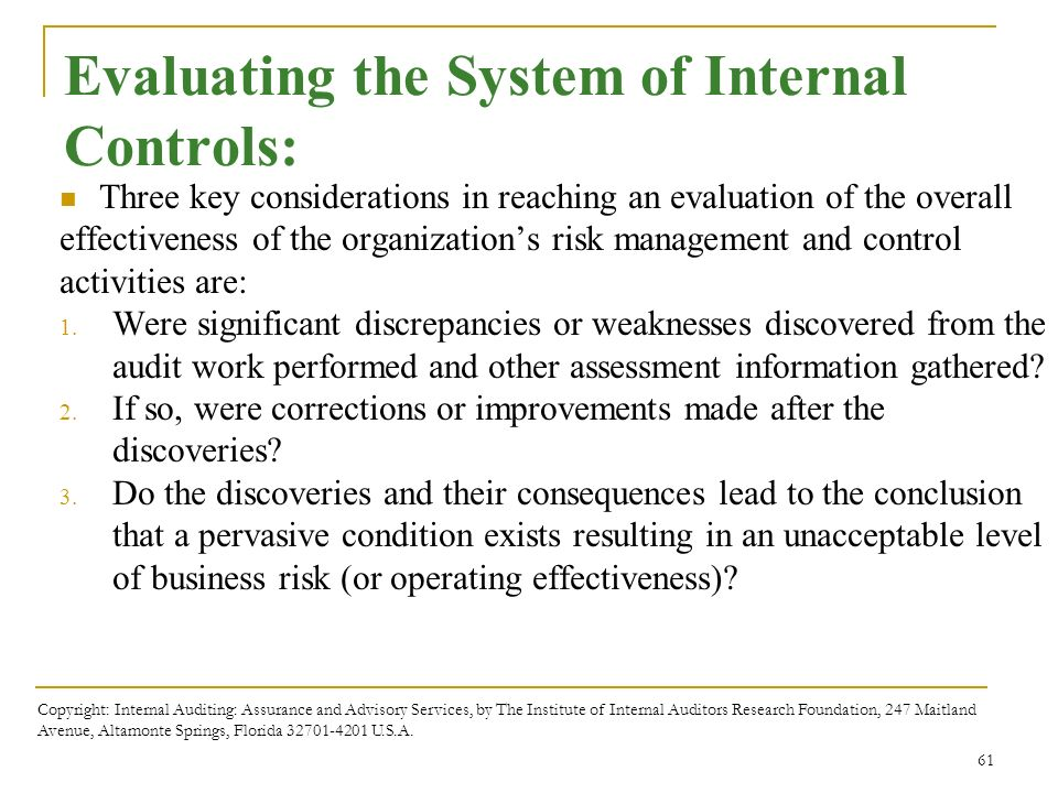 internal control system in auditing pdf