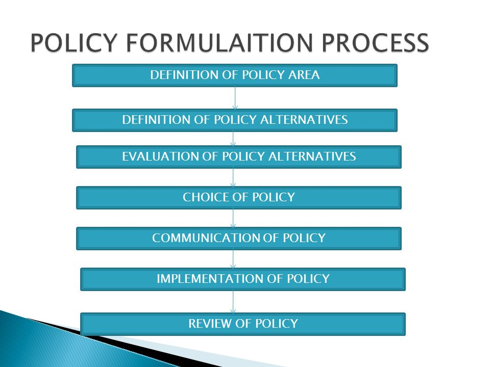POLICY FORMULAITION PROCESS