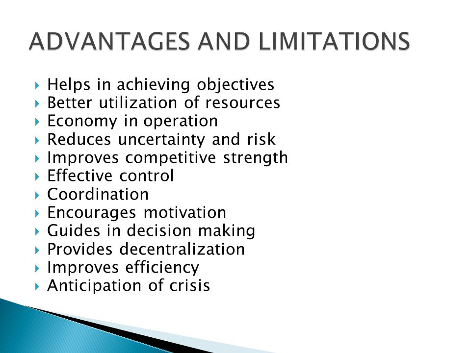 ADVANTAGES AND LIMITATIONS
