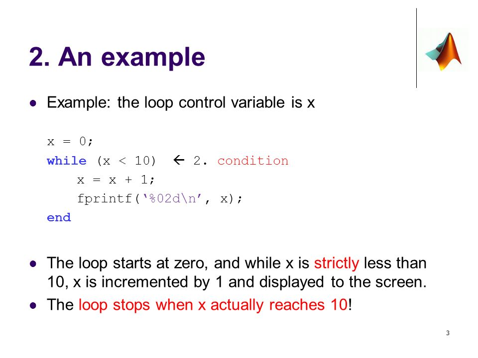 Review while loops Control variables Example Infinite loop - ppt ...