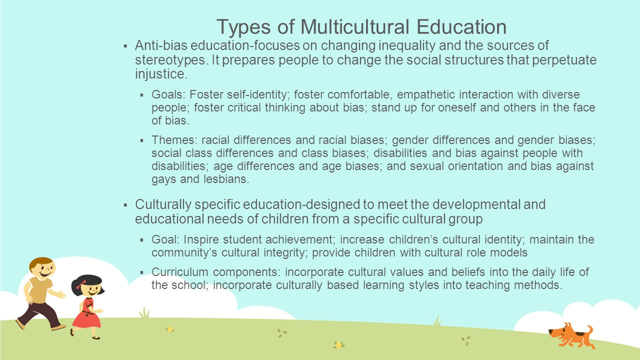 Types of Multicultural Education