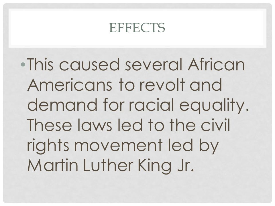jim crow laws photo essay ppt video online  3 effects