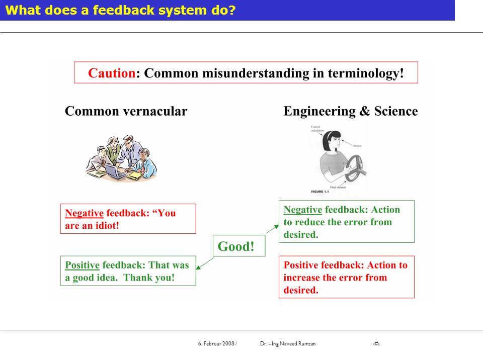 What does a feedback system do