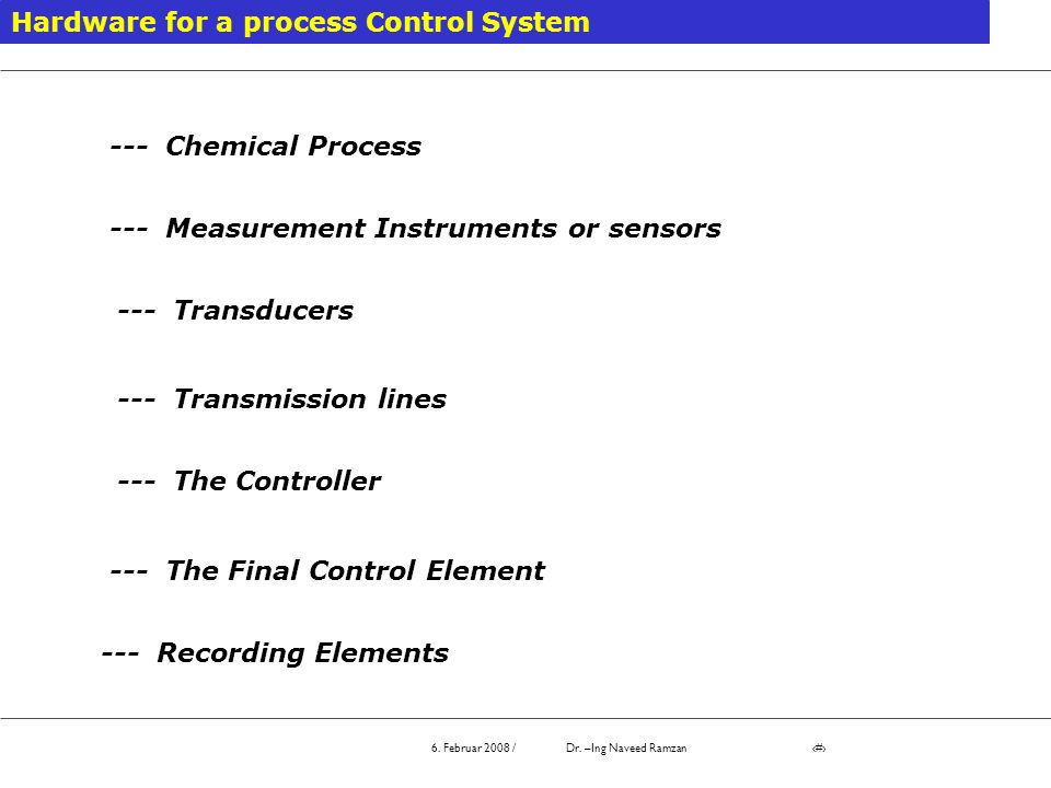 Hardware for a process Control System