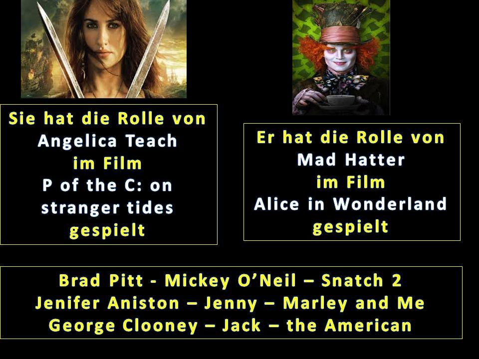 Sie hat die Rolle von Angelica Teach im Film