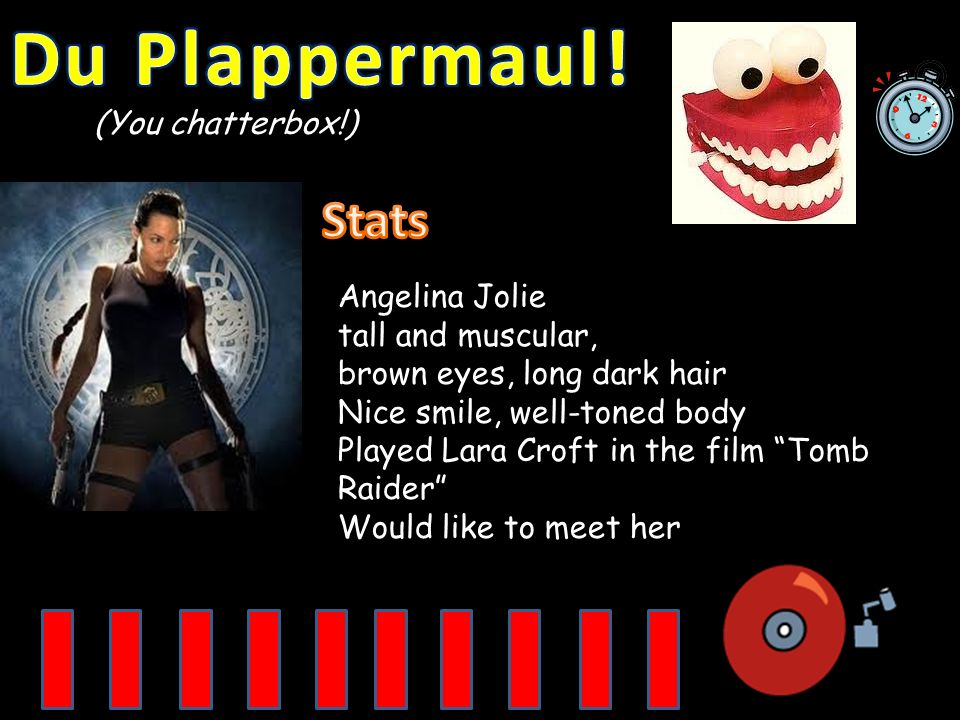 Du Plappermaul! Stats (You chatterbox!) Angelina Jolie