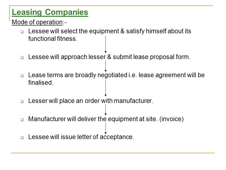 Audit Of Hire Purchase & Leasing Company - Ppt Video Online Download