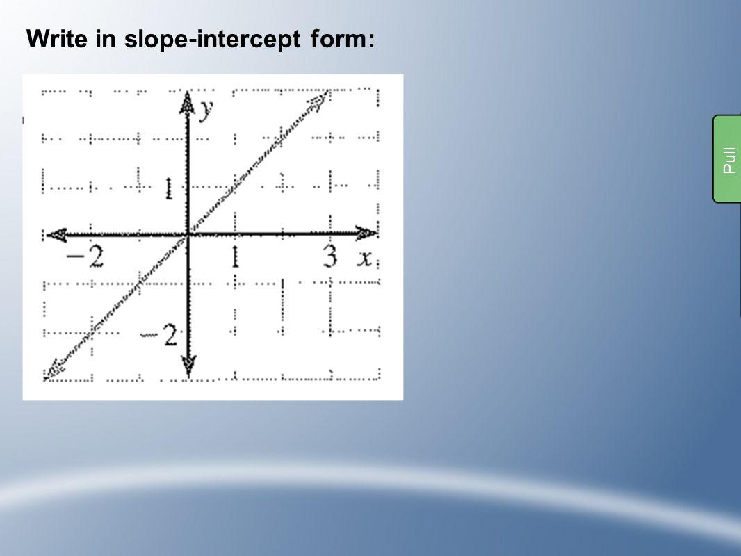 Slope intercept bingo ppt download write in slope intercept form falaconquin