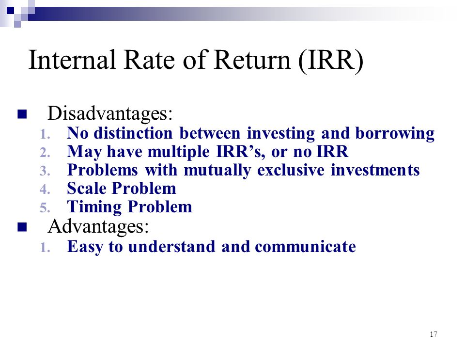 Chapter 10 Capital Budgeting STUDENTS | Internal Rate Of Return | Net Present Value