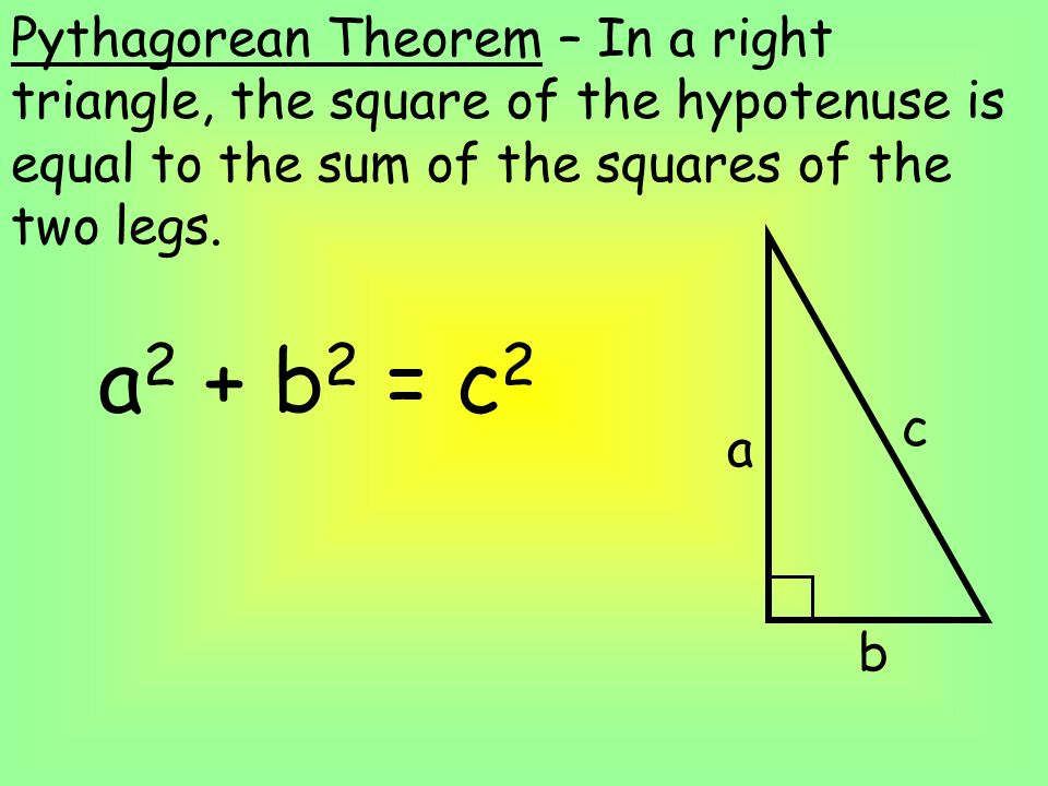 an analysis of pythagorean theorem How can the answer be improved.