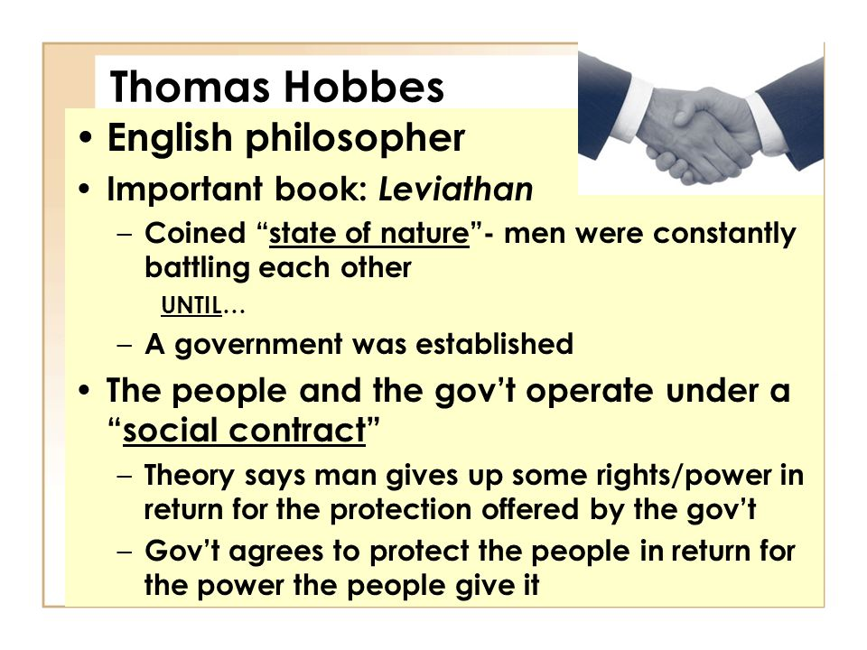 "the nature of man in leviathan a book by thomas hobbes English political philosopher thomas hobbes (1588 – 1679) is widely held as the ""father of political science"" his 1651 book leviathan makes the case for why monarchy is the only political system that is consistent with human nature he bases his argument on the following assumption about humans in."