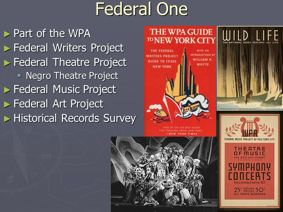 wpa writers project O ne of president franklin d roosevelt's new deal programs, the federal writers project (fwp) employed out-of-work writers and editors during the great depression  directed by writer lyle saxon, the louisiana branch of the fwp produced two travel guides—the wpa guide to new orleans (1938) and louisiana: a guide to the state (1941)—and a folklore collection—gumbo ya ya: a collection.