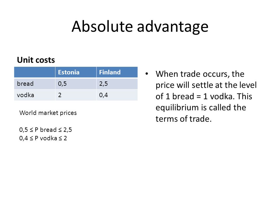 the competitive and absolute advantages of finland These tend to have durable competitive advantages,  but these aren't necessarily companies that have yields that are high in absolute terms or  finland.