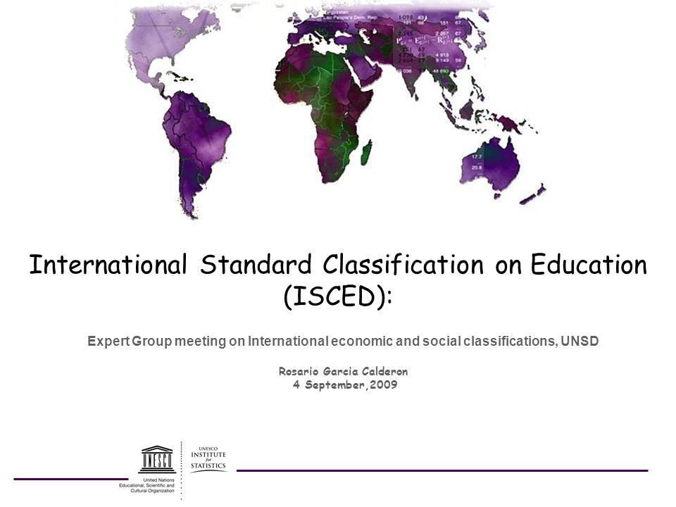 International Standard Classification on Education (ISCED):