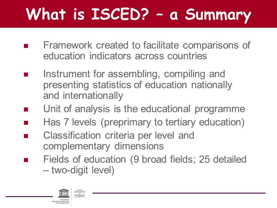 What is ISCED – a Summary