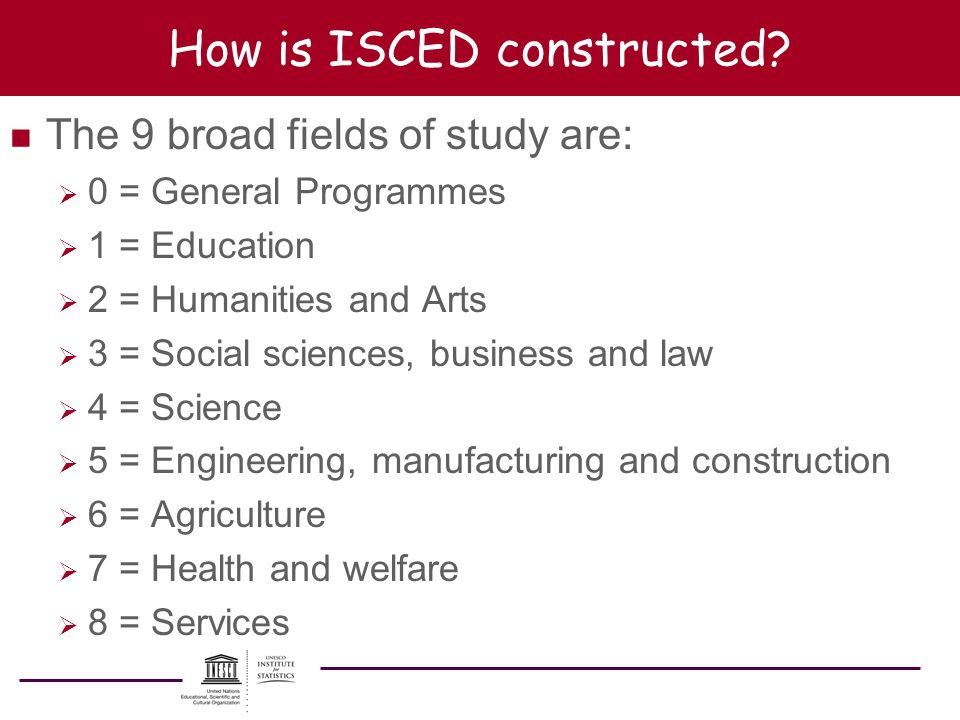 How is ISCED constructed