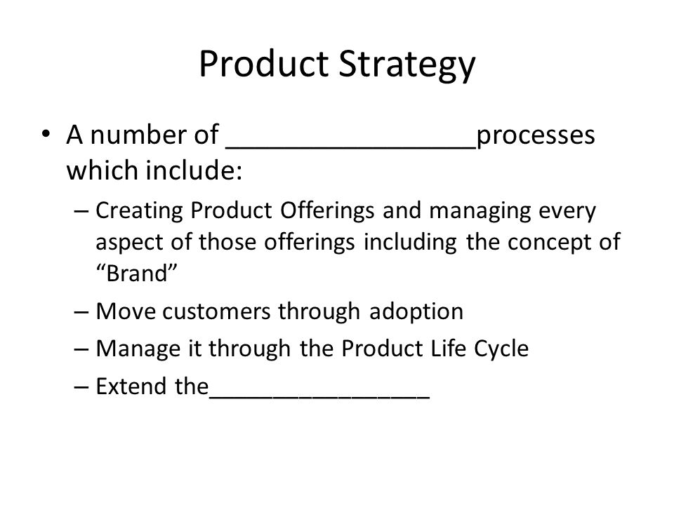 Chapter 8 Product Strategy - Ppt Video Online Download