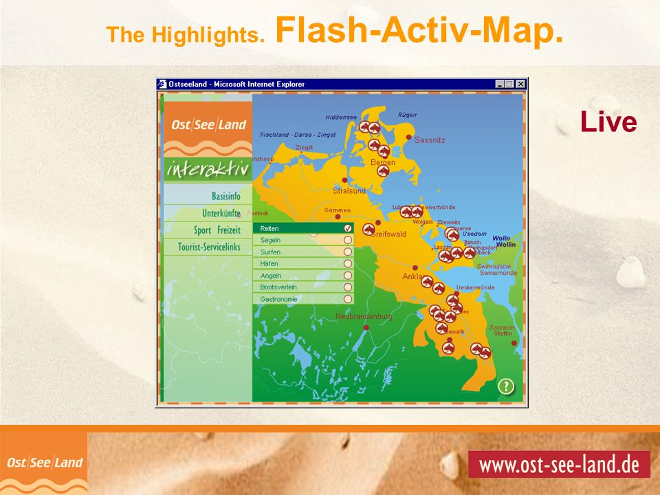 The Highlights. Flash-Activ-Map.