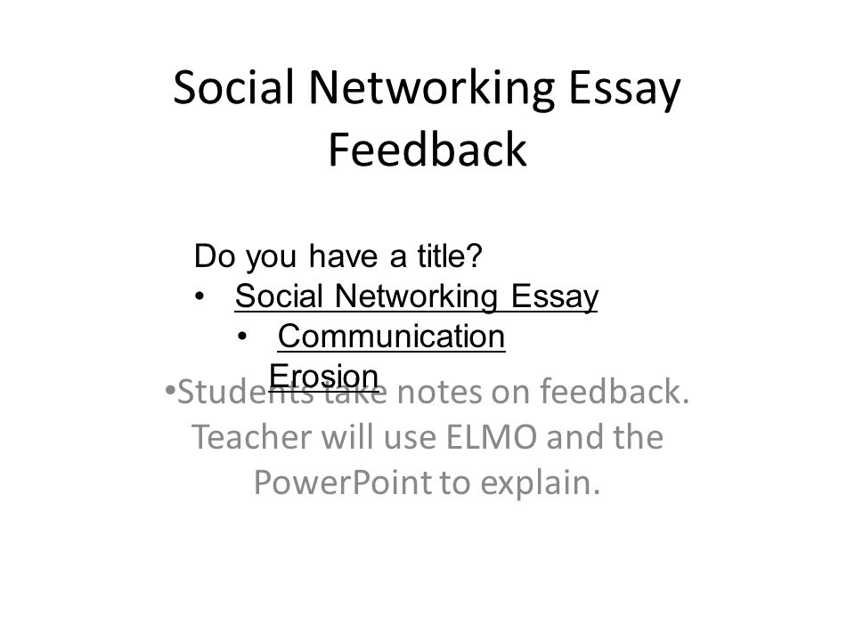 Networks and modern communications essay
