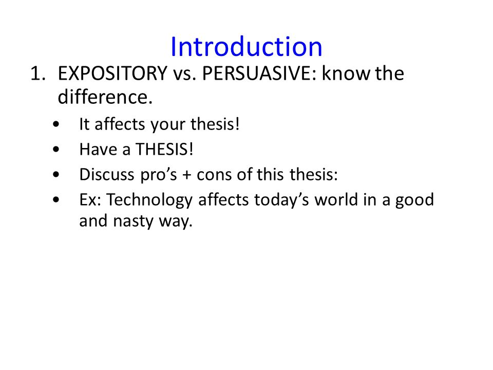 technology and modernity expository essay Though the word essay has come to be understood as a type of writing in modern english the purdue owl recognizes the wide spread use of these approaches and students' need what is an expository essay the expository essay is a genre of essay that requires the student to investigate.