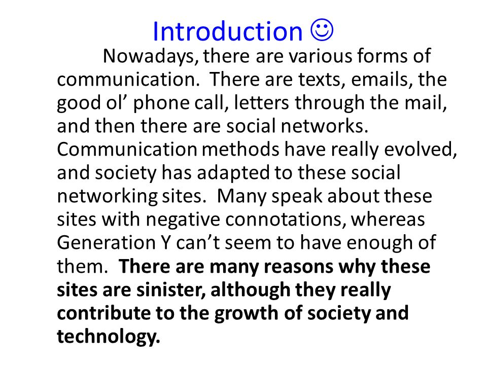 social networking essay feedback ppt video online  4 introduction  nowadays