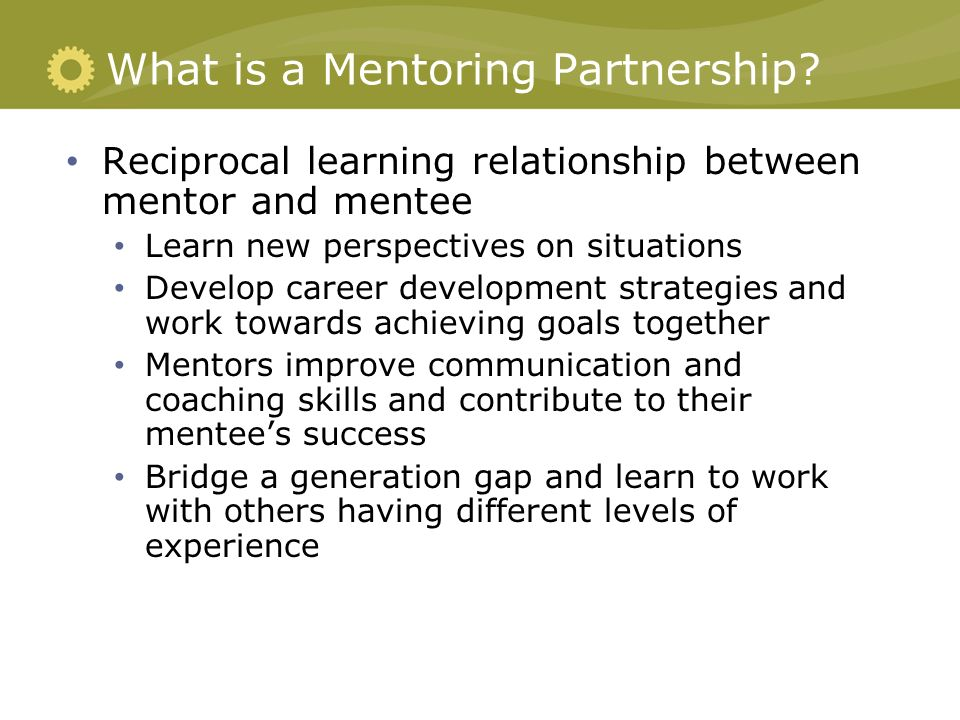 expectations mentor mentee relationship in education