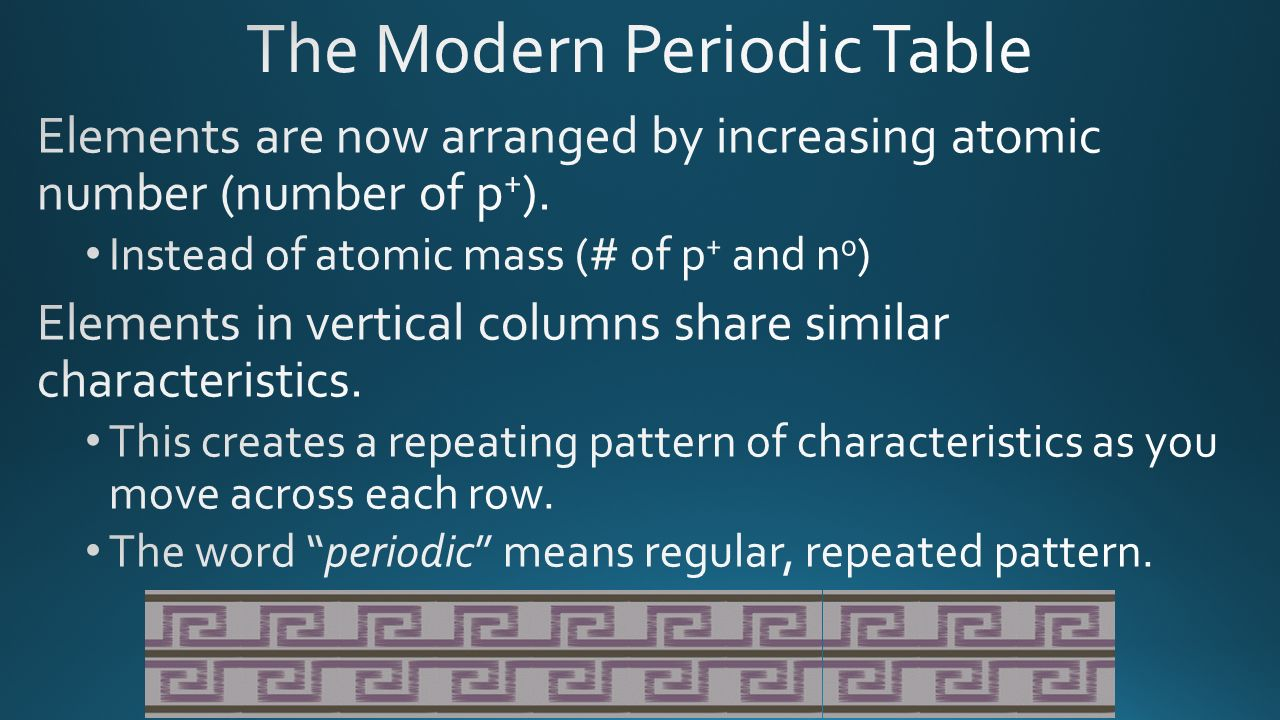 Organizing the elements ppt download 6 the modern periodic table elements are now arranged by gamestrikefo Choice Image