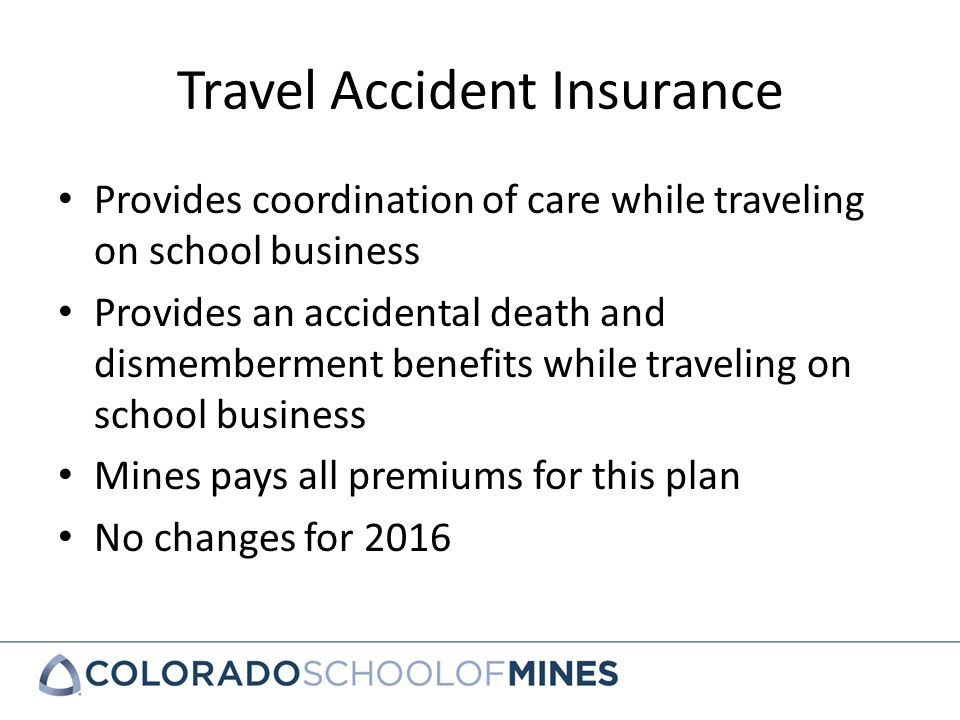 group travel accident insurance