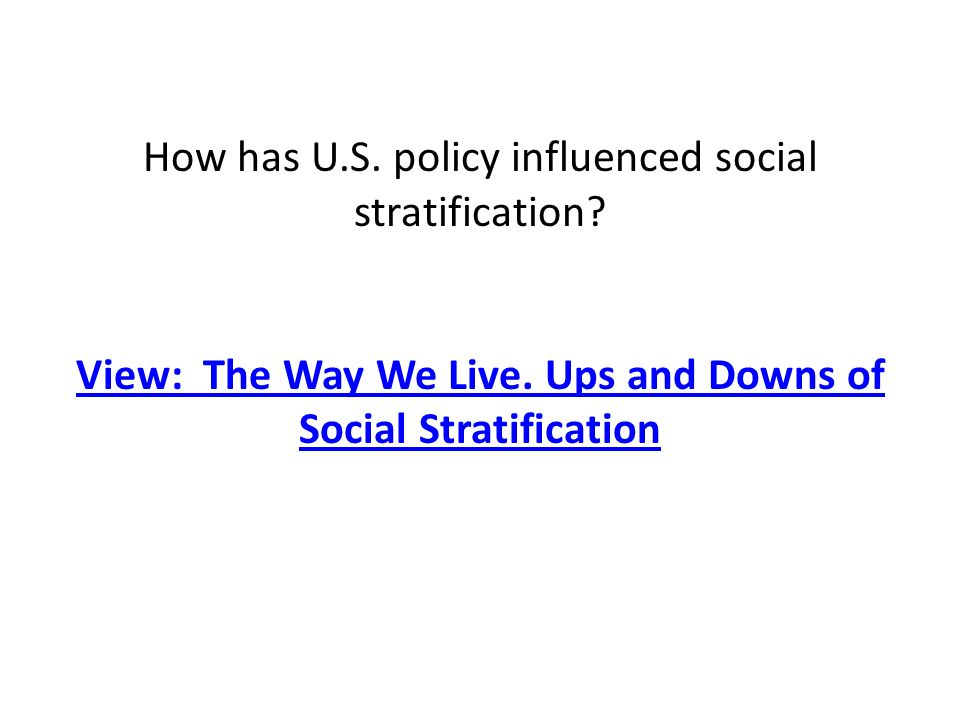 today social stratification essay Free essays from bartleby | ireland the social stratification in ireland today is undefined during the celtic tiger it was perceived that ireland as a whole.