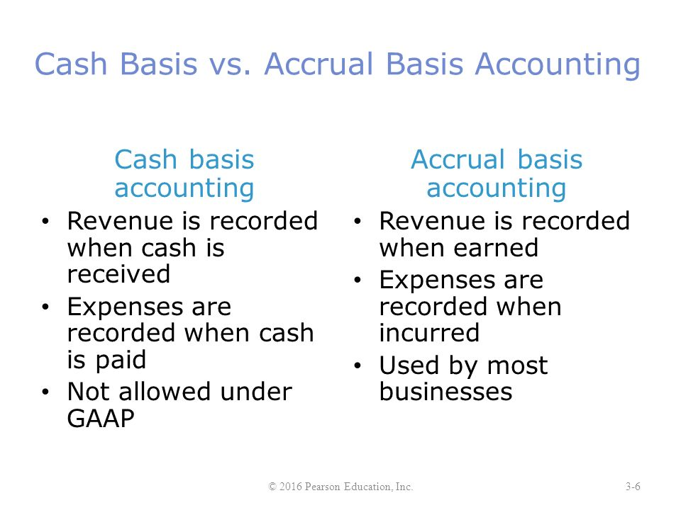 accounting versus cash based accounting essay Below is an essay on cash basis accounting from anti essays, your source for research papers, essays, and term paper examples generally accepted accounting principles prescribe the accrual basis of accounting over the cash basis of accounting the accrual basis of accounting measures the performance of a.
