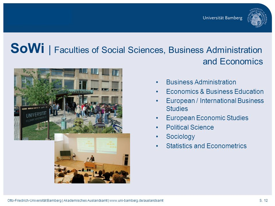 SoWi | Faculties of Social Sciences, Business Administration